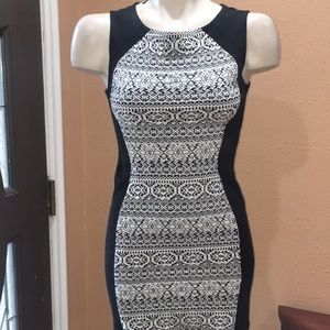 Divided mini dress